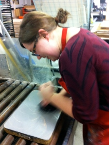 graining the stone